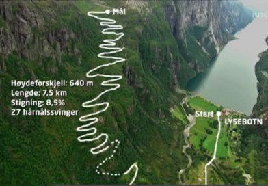L'Alpe d'Huez norvégienne : la montée du Lysebotn Fjord